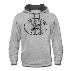 Pony Express, distressed - Contrast Hoodie