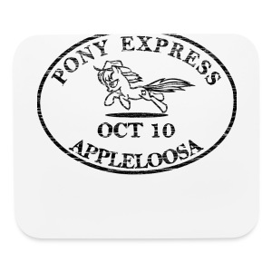 Pony Express, distressed - Mouse pad Horizontal