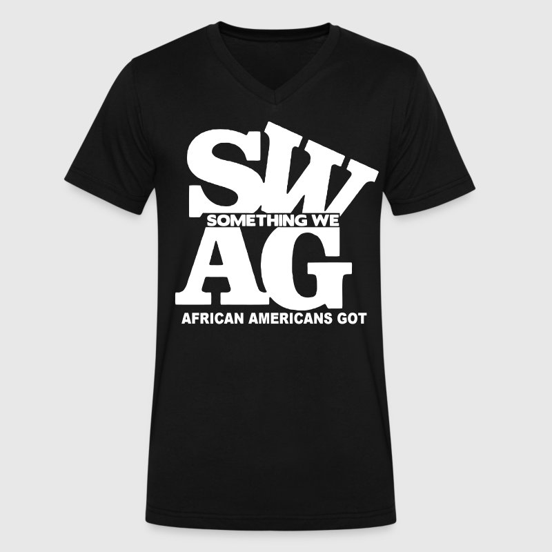 SWAG: SOMETHING WE AFRICAN AMERICANS GOT - Men's V-Neck T-Shirt by Canvas