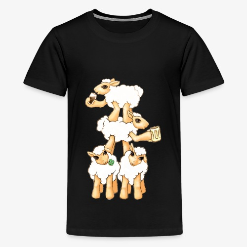Sheeps celebrating Patrick's Day - Kids' Premium T-Shirt