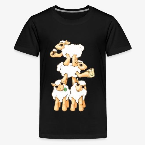 Sheeps celebrating Patrick's Day - Kids' Premium T-Shirt