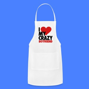 I Love My Crazy Boyfriend Women's T-Shirts - Adjustable Apron