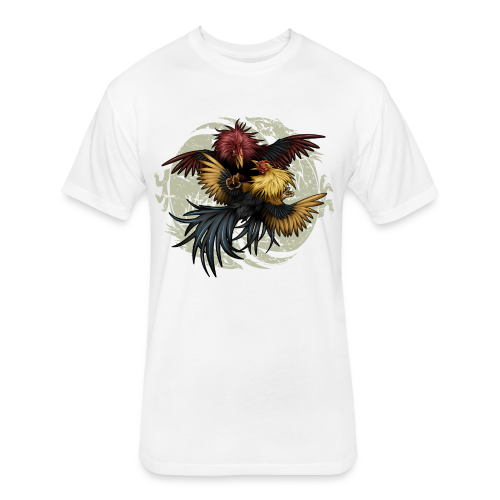 C-1203 Ying Yang Gallos - Fitted Cotton/Poly T-Shirt by Next Level