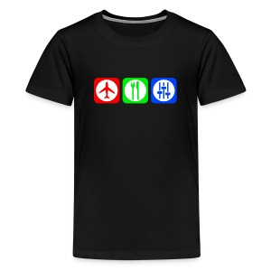 Fly, Eat, Tech - RGB - Kids' Premium T-Shirt