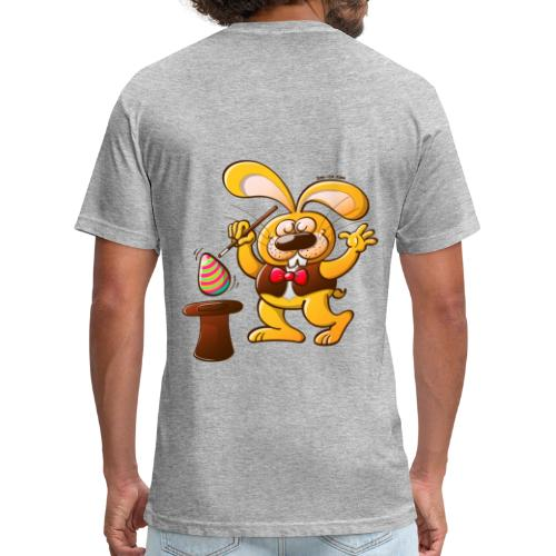 Magician Easter Bunny - Fitted Cotton/Poly T-Shirt by Next Level
