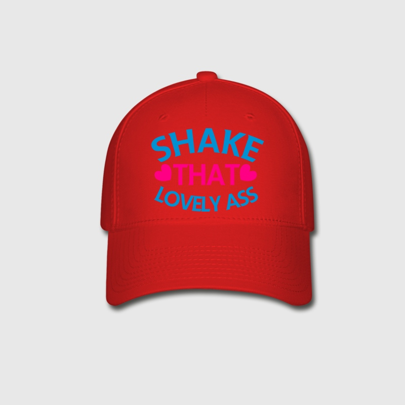 shake that lovely ass! with love hearts Caps - Baseball Cap
