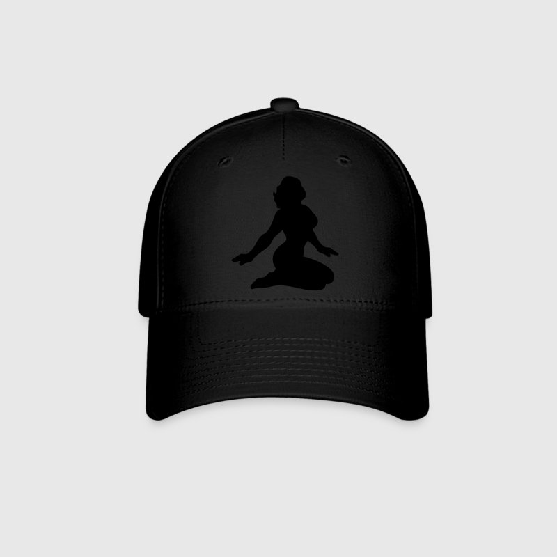 simple rockabilly girl tattoo pinup sexy lady with delicious curves Caps - Baseball Cap