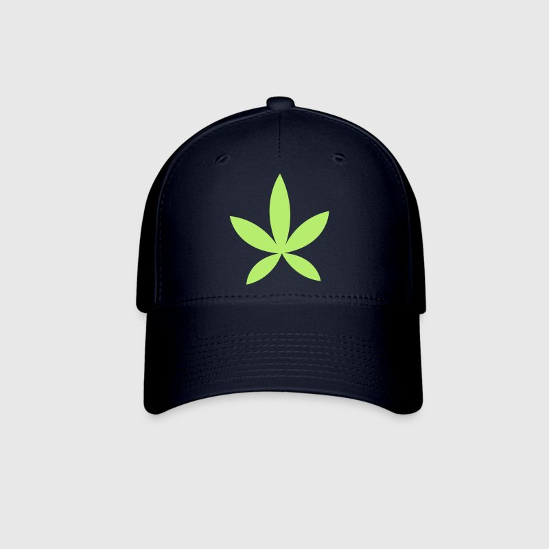 weed pot hash leaf grass simple shape Caps - Baseball Cap