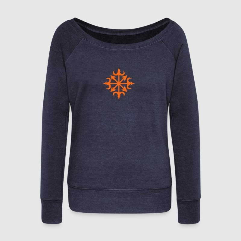 Chaos Star, Symbol of chaos,  Energy symbol, c, Long Sleeve Shirts - Women's Wideneck Sweatshirt