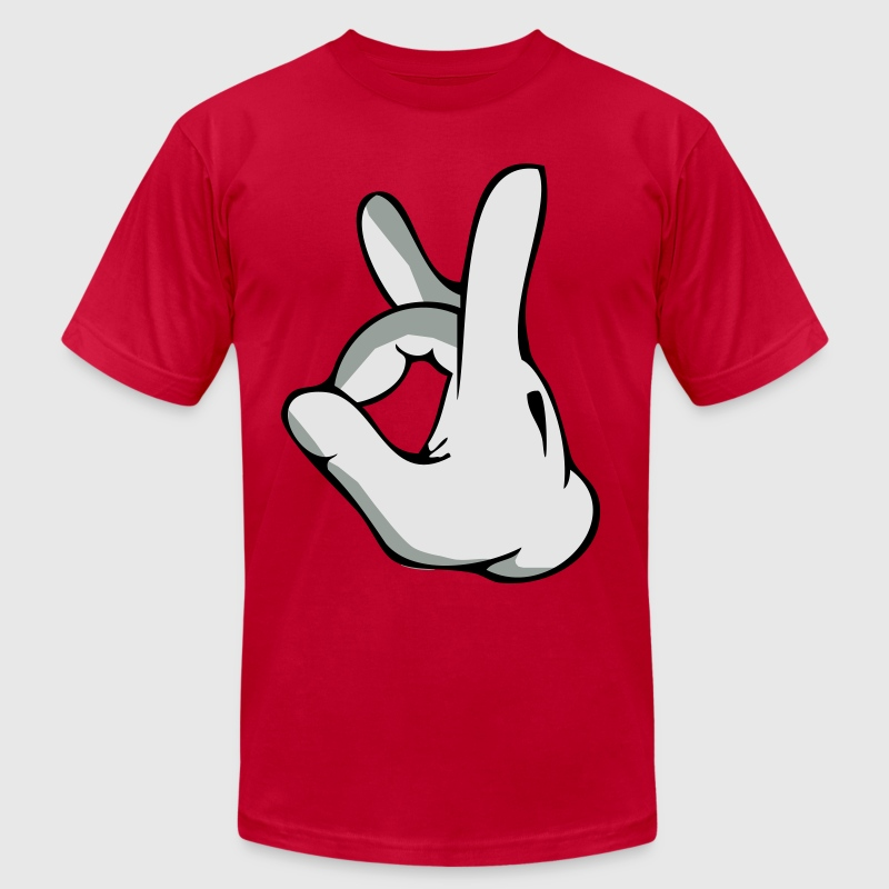 mickey hands dope - Men's T-Shirt by American Apparel