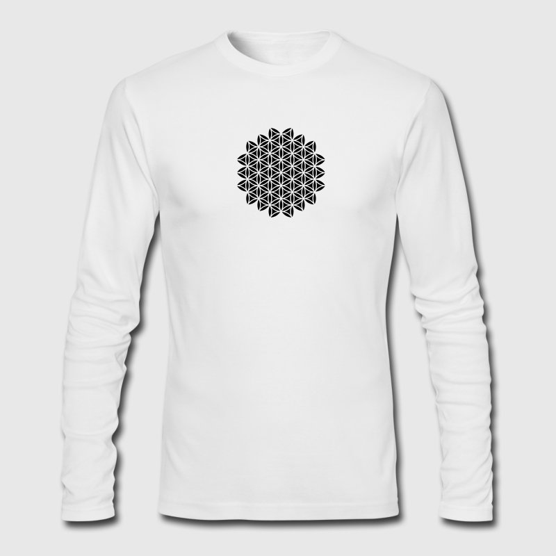 Flower of Life - Sacred Geometry, c, Healing Symbol,  Protection Symbol, Harmony, Balance Long Sleeve Shirts - Men's Long Sleeve T-Shirt by Next Level