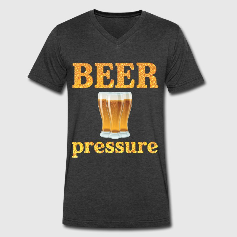 Beer Pressure T-Shirts - Men's V-Neck T-Shirt by Canvas