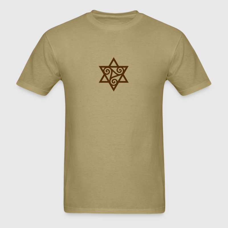 TRISKELE: Yin power symbol, vector, Merkaba, Energy Symbol, Protection Force T-Shirts - Men's T-Shirt