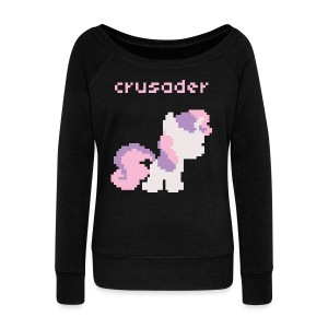 Sweetie Belle pixel - Women's Wideneck Sweatshirt