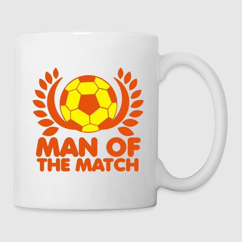 MAN of the MATCH soccer ball with circlet black and white Gift - Coffee/Tea Mug