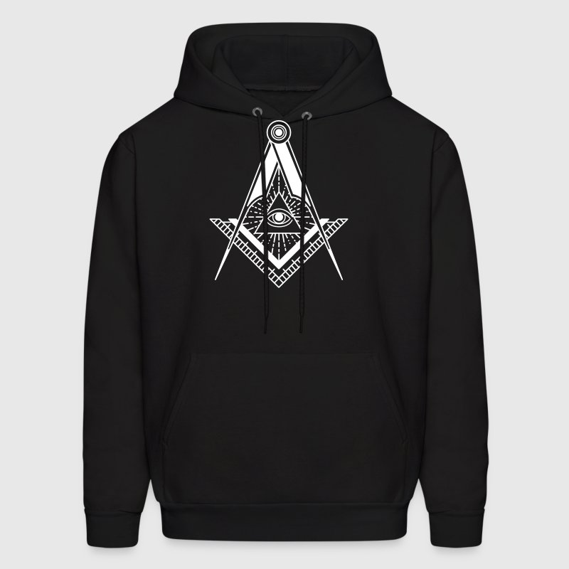 All Seeing Eye (Black) - Hoodies - Men's Hoodie