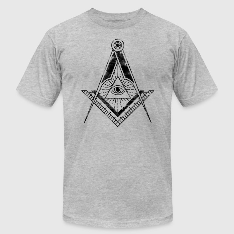 All Seeing Eye (Faded Black) - T-Shirts - Men's T-Shirt by American Apparel