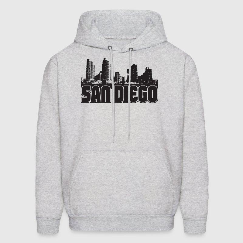 San diego skyline hoodie spreadshirt for Custom t shirts san diego