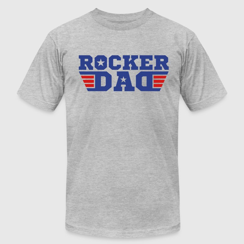 Rocker Dad T-Shirts - Men's T-Shirt by American Apparel