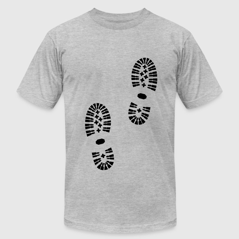 Shoeprint, Shoes, Footprint T-Shirts - Men's T-Shirt by American Apparel