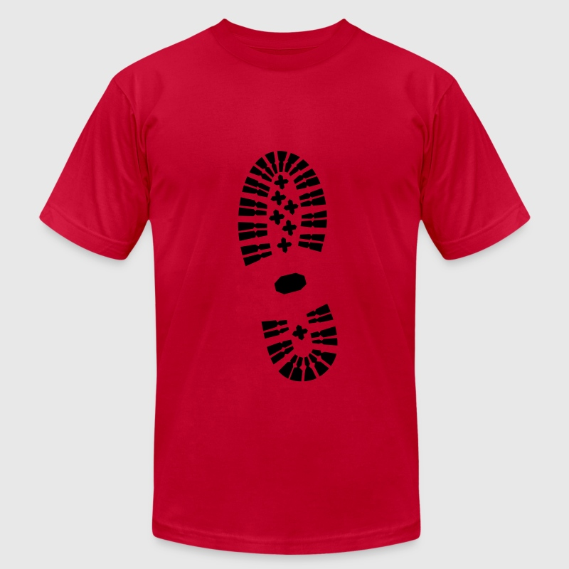 Shoe Print, Shoe, Boot Print T-Shirts - Men's T-Shirt by American Apparel