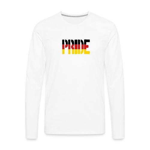 PRIDE Germany Flag, Proud to be German - Men's Premium Long Sleeve T-Shirt