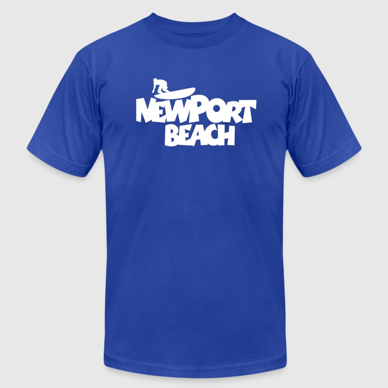 Newport Beach Surf T-Shirt - Men's T-Shirt by American Apparel