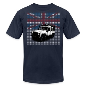 Union Jack Land Rover Defender - Men's Fine Jersey T-Shirt