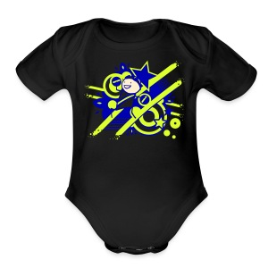 Charles the Raver Celebration HOODIE - Short Sleeve Baby Bodysuit