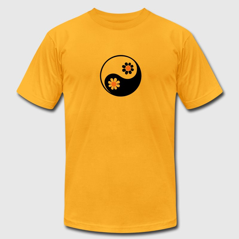 YING YANG, 2c, Taoist symbol, symbol of perfect balance, ancient chinese symbol /  T-Shirts - Men's T-Shirt by American Apparel
