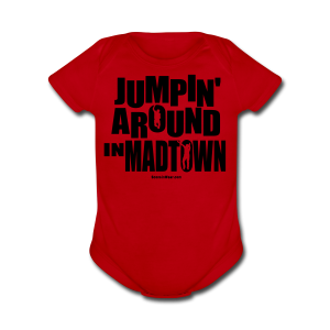 Jumpin' Around in MadTown! - Short Sleeve Baby Bodysuit
