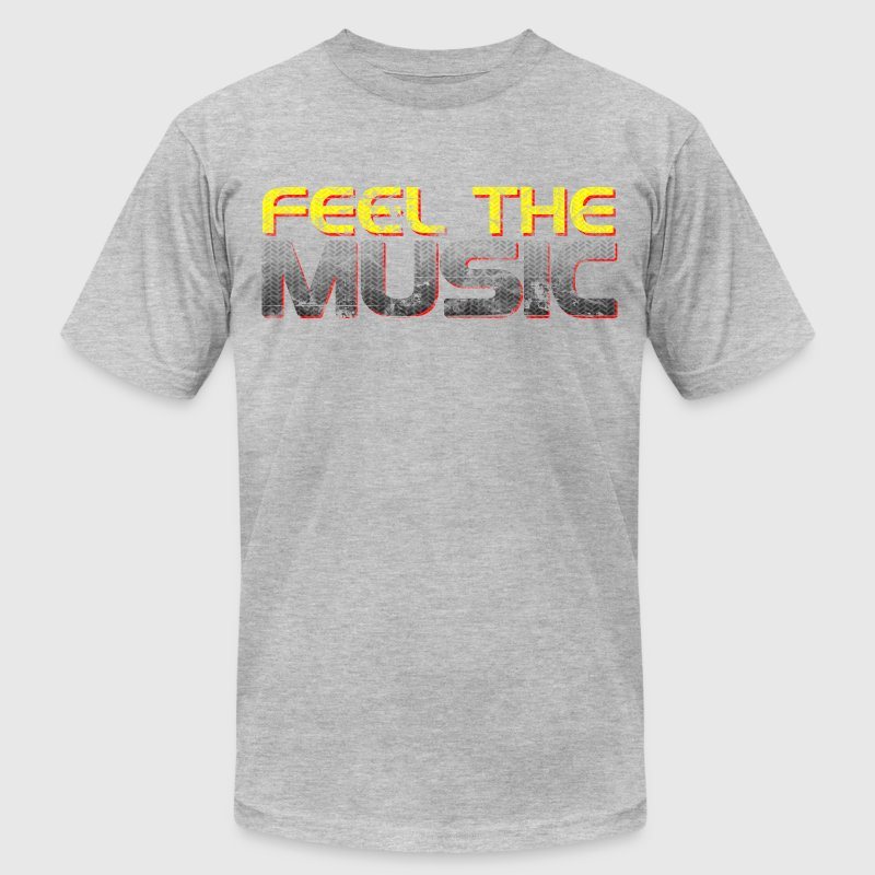 Feel The Music - Men's T-Shirt by American Apparel
