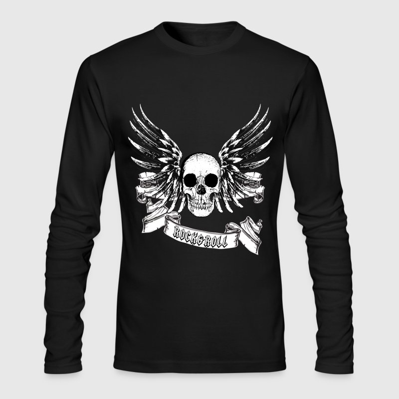 Rock roll skull t shirt spreadshirt for Rock and roll shirt shop