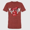 Rock N Roll Winged Lips T-Shirts - Unisex Tri-Blend T-Shirt by American Apparel