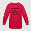 I'm hungry tummy stomach design Kids' Shirts - Kids' Long Sleeve T-Shirt
