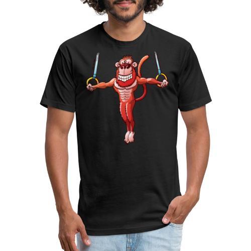 Olympic Flying Rings Monkey - Fitted Cotton/Poly T-Shirt by Next Level