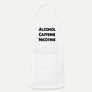 Alcohol Caffeine Nicotine - Adjustable Apron