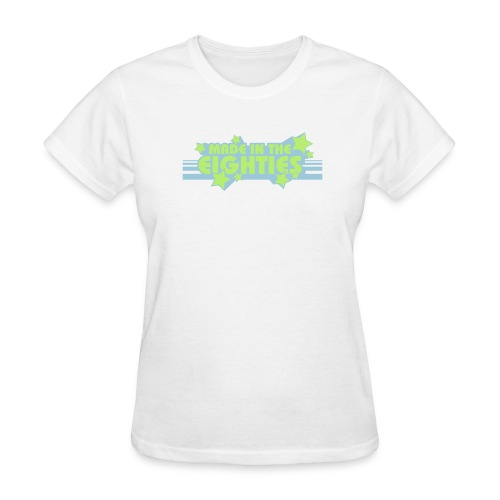 Made in the 80s (White Womens LW Tee) - Women's T-Shirt