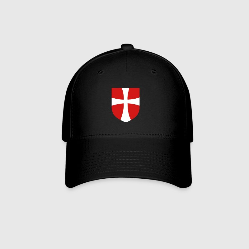Black Denmark Shield with Mantua Cross Cap - Baseball Cap