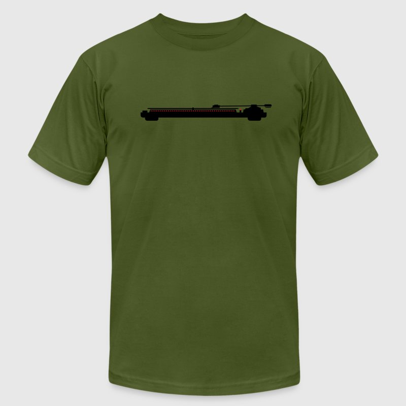 Olive turntable Men - Men's T-Shirt by American Apparel