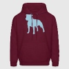 Burgundy Staffordshire Bull Terrier Sweatshirt - Men's Hoodie