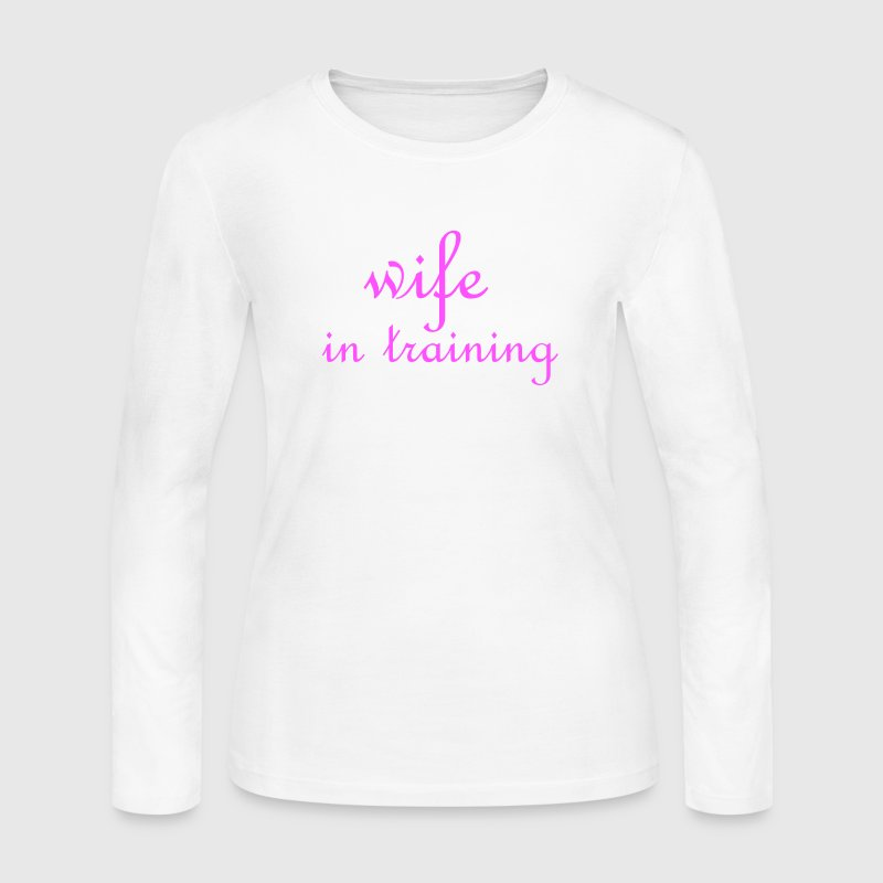 White Wife in training (wedding, bride to be) Women - Women's Long Sleeve Jersey T-Shirt