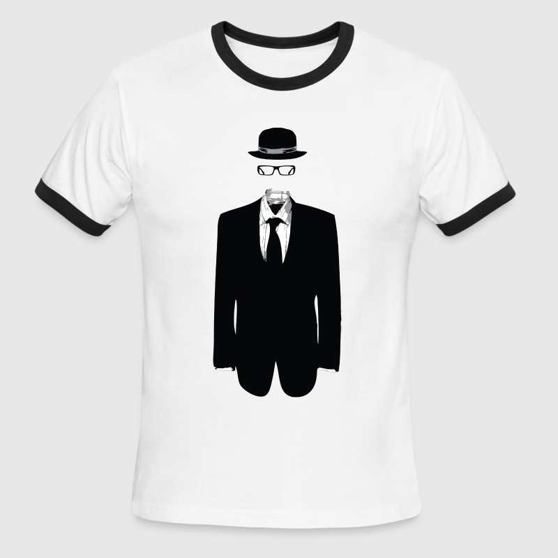 White/black invisible man designer graphic Men - Men's Ringer T-Shirt