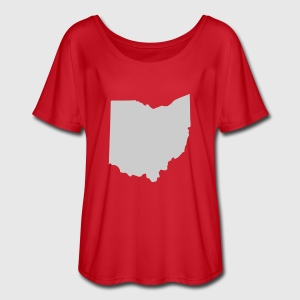 Red State of Ohio solid Women - Women's Flowy T-Shirt