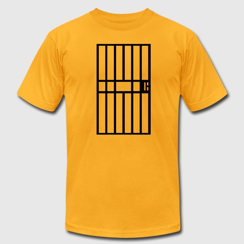 Gold Jail cell prison bars Men - Men's T-Shirt by American Apparel