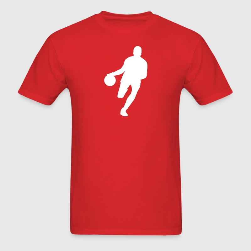 Red basketball player silhouette T-Shirts (Short sleeve) - Men's T-Shirt