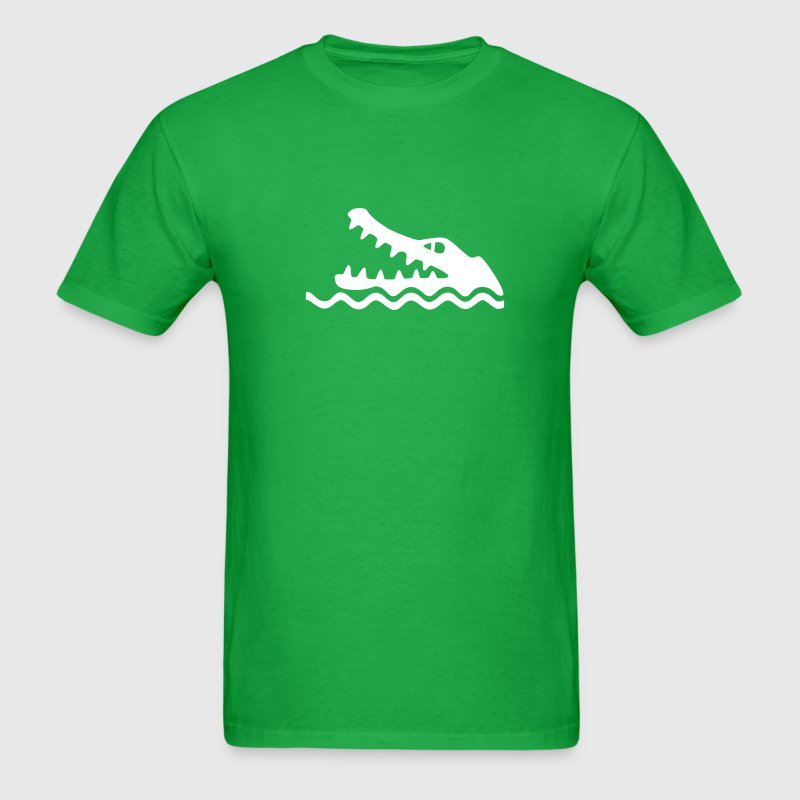 Kelly green Crocodile/Alligator Warning T-Shirts (Short sleeve) - Men's T-Shirt