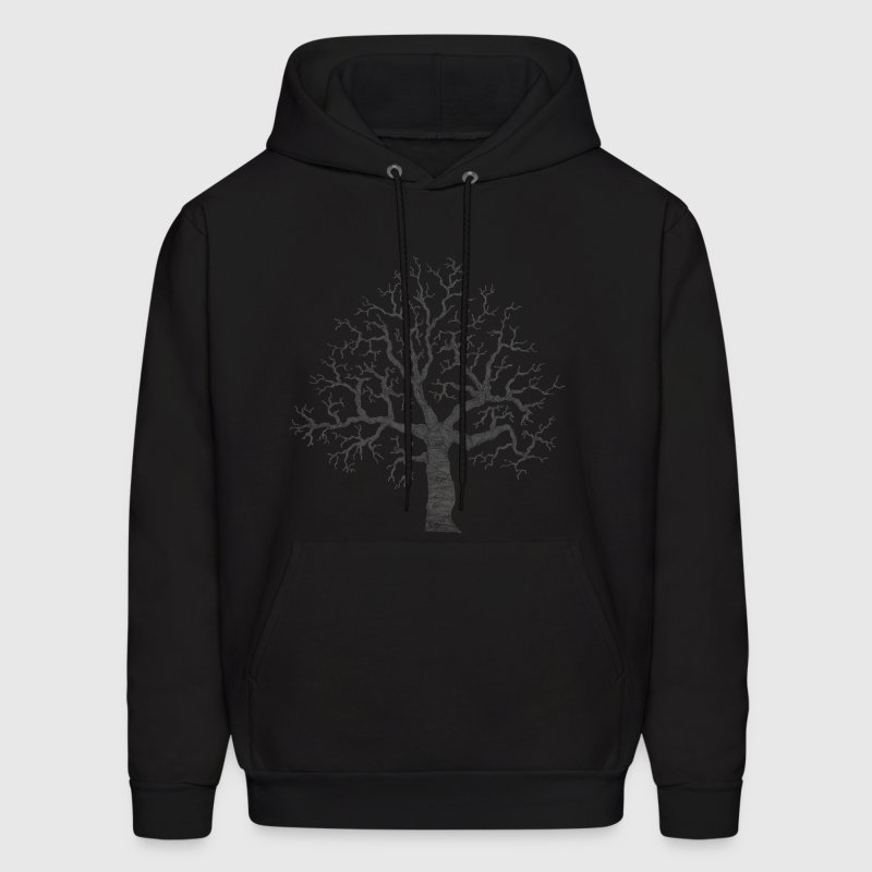Black Roots Tree Design Transparent Hoodies - Men's Hoodie