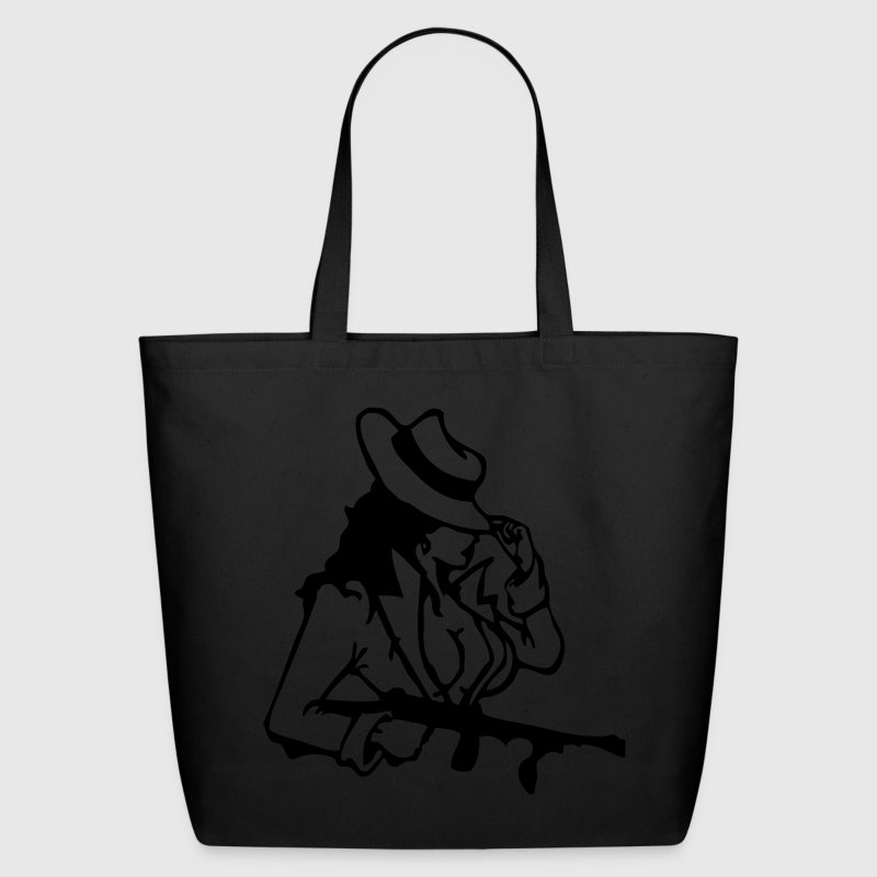 Black Bad Girl Bags  - Eco-Friendly Cotton Tote
