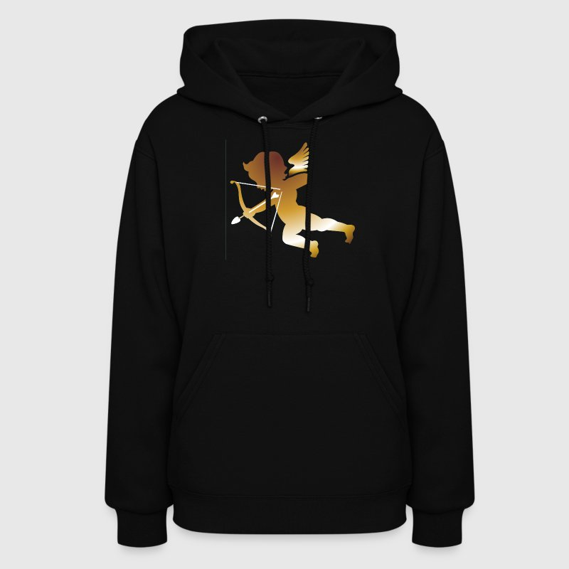 Black Cupid 01 - (dark gold) Hooded Sweatshirts - Women's Hoodie